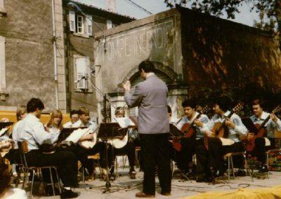 1981 Konzert anlaslich der 15Jahrigen Verschwisterung zwischen Saint Peray und Gross Umstadt in Saint Peray