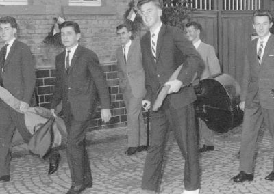 10.06.1960 Selbst mit Gipsfuss für den Verein unterwegs. Anlässlich des 40jährigen Jubiläums der FFW Wiebelsbach