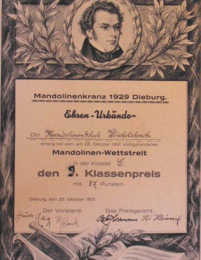 Oktober 1931 Dieburg