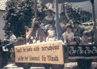 Festzug anlässlich des 60jährigen Jubiläums des GSV am 15.06.1959 - der Wagen des MCW