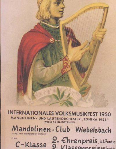 Oktober 1950 Volksmusikfest Dotzenheim