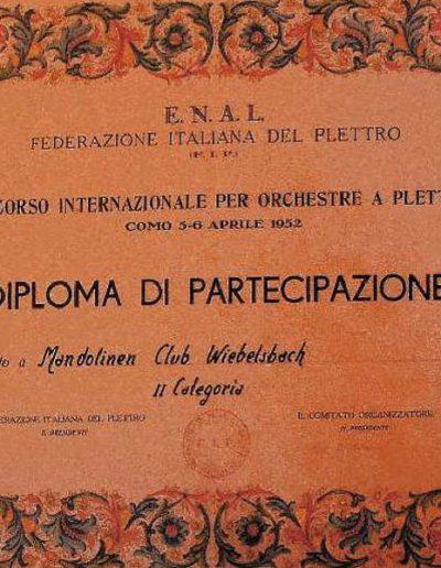 April 1952 Como Italien