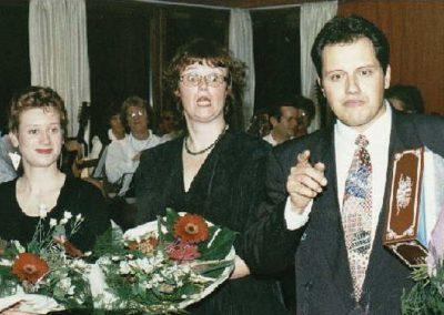 11 Sabine Geis, Birgit Kayser und André Keller am 28.10.1995