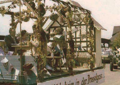 Festzug zum 75jährigen Jubiläum des GSV Wiebelsbach 1974