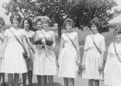 Die Festdamen beim 40jährigen Jubiläum des MCW 1963