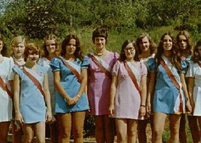 Die Festdamen beim 50jährigen Jubiläum des MCW 1973
