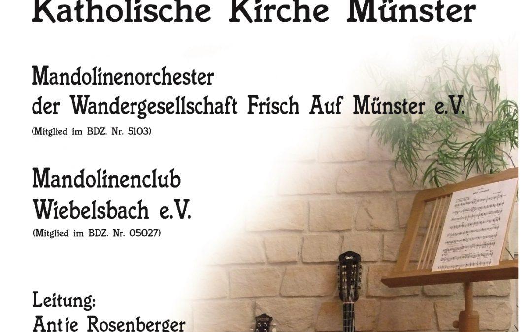 Konzert am 19.05.19 ab 17.00 Uhr in der Kath. Kirche Münster